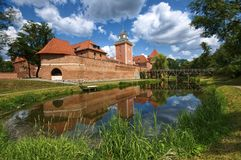 Castle in Lidzbark Warminski Royalty Free Stock Photography