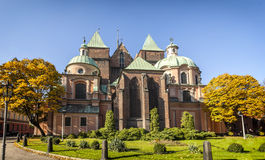 Medieval, gothic cathedral in Wroclaw (Breslau), Poland. Backside stock photography