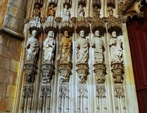 Medieval Monastery, Gothic Architecture Masterpiece, UNESCO Stock Photo