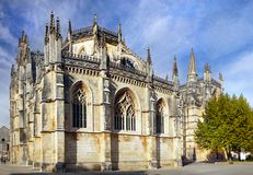 Medieval Monastery, Gothic Architecture Masterpiece, UNESCO. Medieval Gothic Dominican Monastery - Batalha Battle - a masterpiece architecture. Portugal. UNESCO royalty free stock images