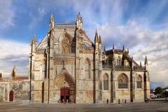 Medieval Gothic Monastery, Architecture Masterpiece, UNESCO. Medieval Gothic Dominican Monastery - Batalha Battle - a masterpiece architecture. Portugal. UNESCO stock photography