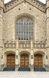 Medieval Gothic styled doors Stock Images