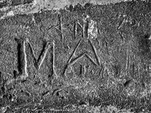 Medieval Graffiti Royalty Free Stock Image