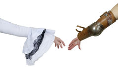 Medieval Grasp Hands Royalty Free Stock Photo