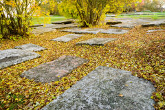 Medieval graveyard Royalty Free Stock Image