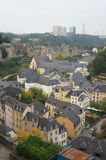 Medieval Grund district of Luxembourg City Stock Images