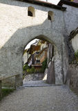 Medieval Gruyeres gate Royalty Free Stock Image