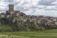 The medieval hamlet of Pietramontecorvino. View of the medieval hamlet of Pietramontecorvino Stock Photo