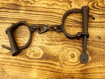 Medieval handcuff Royalty Free Stock Image