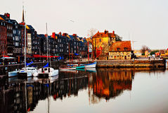 Medieval harbor of Honfleur Stock Image