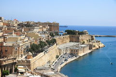 Medieval harbour in Valletta, Malta Royalty Free Stock Photography