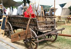 Medieval hay wagon Royalty Free Stock Images