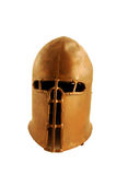 Medieval helm. With eye protection and dents in the crown Stock Photo