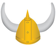 Medieval helmet with horns Royalty Free Stock Images
