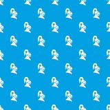 Medieval helmet pattern seamless blue. Medieval helmet pattern repeat seamless in blue color for any design. Vector geometric illustration Royalty Free Stock Photography