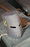 Medieval helmet protective Stock Images
