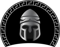 Medieval helmet. Second variant. vector illustration Royalty Free Stock Photography