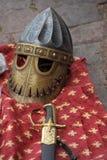Medieval Helmets Stock Photo