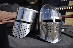 Medieval Helmets Stock Photos