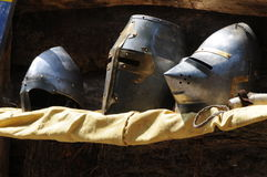 Medieval Helmets Royalty Free Stock Photos