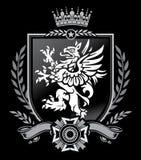 Griffin Crest. A medieval, Heraldic Griffin Crest design Stock Image