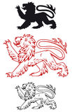 Medieval heraldic lion Stock Images