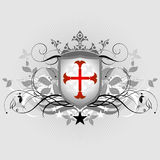 Medieval heraldic shield Stock Photography