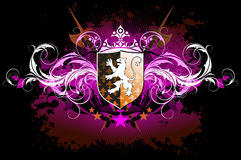 Medieval heraldic shield Royalty Free Stock Photography