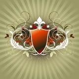 Medieval heraldic shield Stock Image