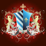 Medieval heraldic shield Royalty Free Stock Photos