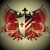 Medieval heraldic shield Stock Photo