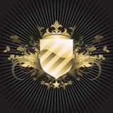 Medieval heraldic shield Royalty Free Stock Image