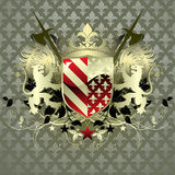 Medieval heraldic shield Stock Images
