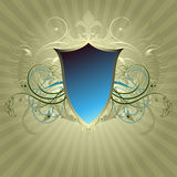 Medieval heraldic shield Stock Photos