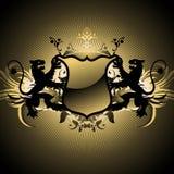 Medieval heraldic shield Royalty Free Stock Photo