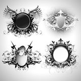 Medieval heraldic shields Royalty Free Stock Images