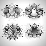 Medieval heraldic shields Stock Photography