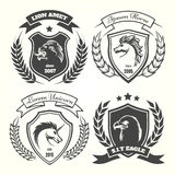 Medieval heraldry coat of arm set Royalty Free Stock Photography
