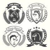 Medieval heraldry coat of arm set royalty free illustration