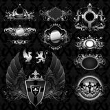 Medieval heraldry shields Stock Photos
