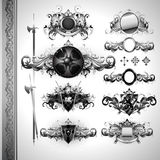 Medieval heraldry shields Royalty Free Stock Photography