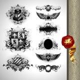 Medieval heraldry shields Stock Image