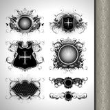 Medieval heraldry shields Royalty Free Stock Images
