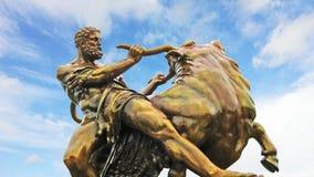 Medieval hero statue, Schwerin, Germany Stock Photo