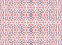 Medieval hexagonal rose textile pattern Stock Photography