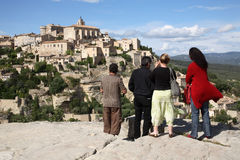 Medieval Hill Town: Gordes, Fr Stock Images