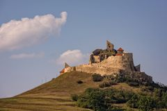 Medieval hilltop fortress in Romania Royalty Free Stock Photos