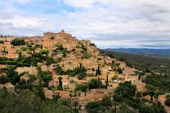 Medieval hilltop town of Gordes. Provence. France. Royalty Free Stock Photos