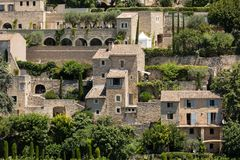 Medieval hilltop town of Gordes. Provence. France Royalty Free Stock Images