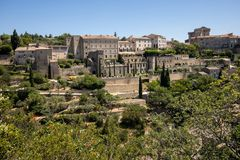 Medieval hilltop town of Gordes. Provence. France Stock Photo